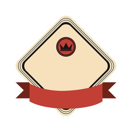 masculine: flat design crown masculine emblem icon vector illustration Illustration
