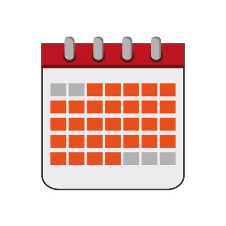diseño plano calendario de papel ilustración del vector del icono
