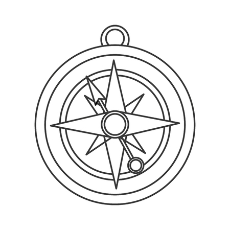 parallel world: flat design navigation compass icon vector illustration