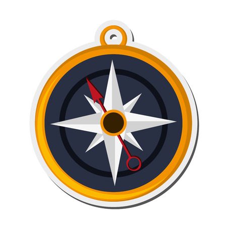 latitude: flat design navigation compass icon vector illustration