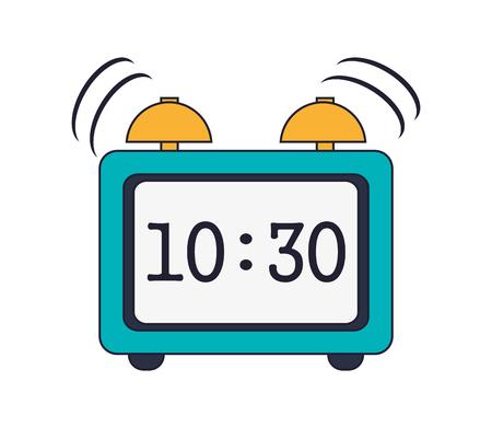 pm: flat design Digital alarm clock icon vector illustration Illustration