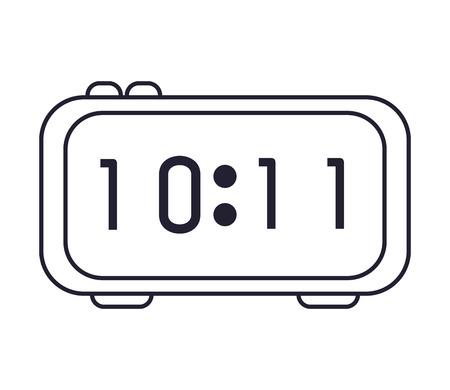 retro stylized digital alarm clock vector royalty free cliparts rh 123rf com 9 10 On Alarm Clock in the Dark BFDI Alarm Clock