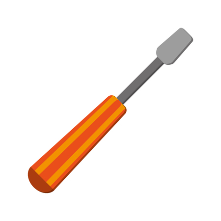 flat design single screwdriver icon vector illustration