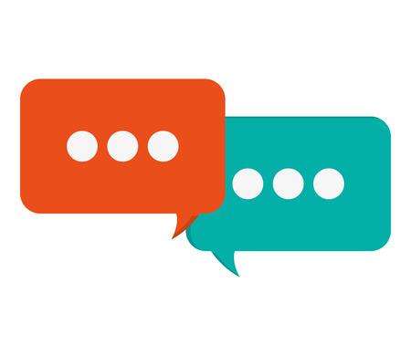 spech bubble: flat design conversation bubbles icon vector illustration