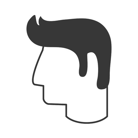 flat design man head profile icon vector illustration
