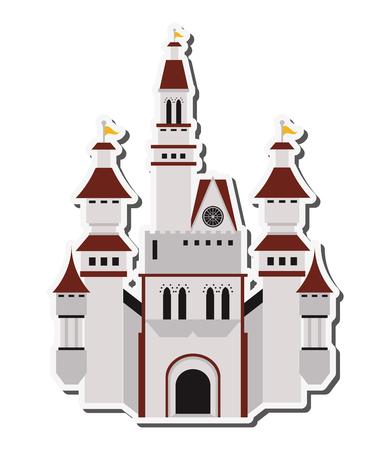 flaches Design große Schloss-Symbol Vektor-Illustration