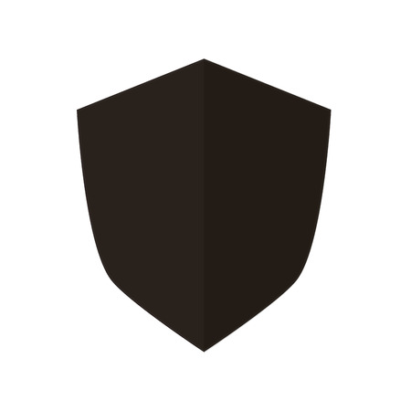 honor guard: flat design blank shield icon vector illustration
