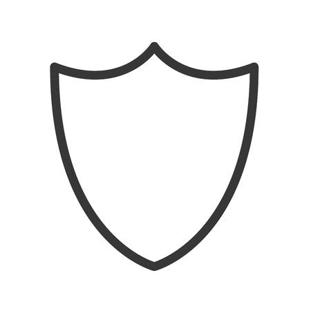 flat design blank shield icon vector illustration
