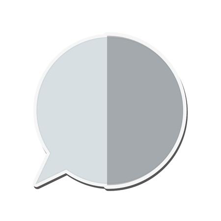 spech bubble: flat design conversation bubble icon vector illustration