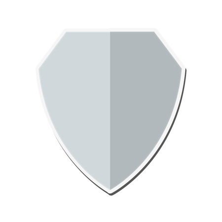 honour guard: flat design blank shield icon vector illustration