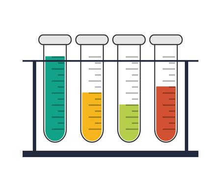 flat design test tubes icon vector illustration