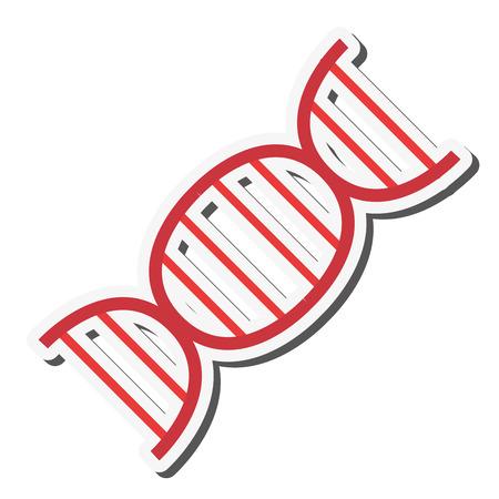 heredity: flat design dna strand icon vector illustration Illustration