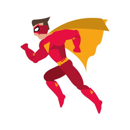 avatar traje de superhéroe de dibujos animados icono animado masculino. ilustración plana y aislada. ilustración vectorial