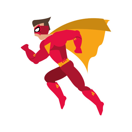 superhero costume avatar cartoon anime male icon. Flat and Isolated illustration. Vector illustration