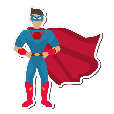 defenders: superhero costume avatar cartoon anime male icon. Flat and Isolated illustration. Vector illustration