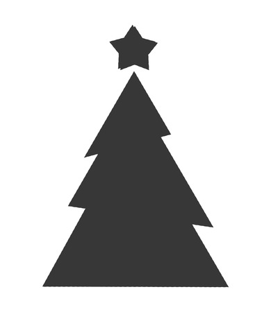 isolated tree: pine tree merry chistmas celebration icon. Flat and Isolated illustration. Vector illustration