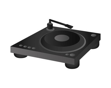 gramaphone: flat design small turntable icon vector illustration