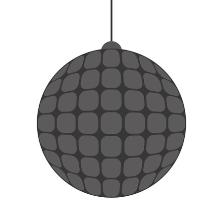 mirrorball: flat design disco ball icon vector illustration