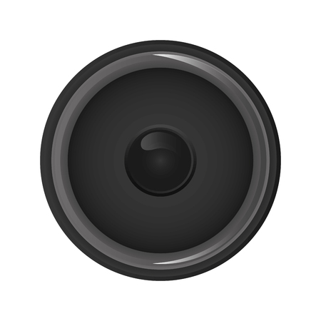 party system: flat design music speaker icon vector illustration