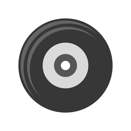 oldies: flat design vinyl record icon vector illustration