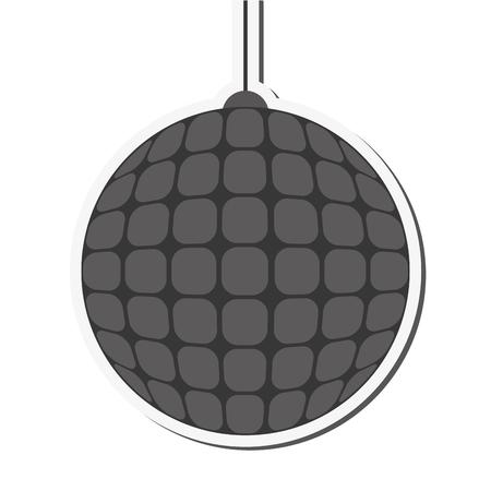 flat design disco ball icon vector illustration