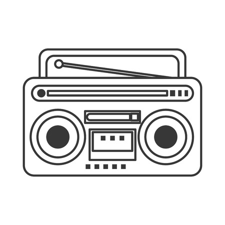 boombox: flat design classic boombox icon vector illustration