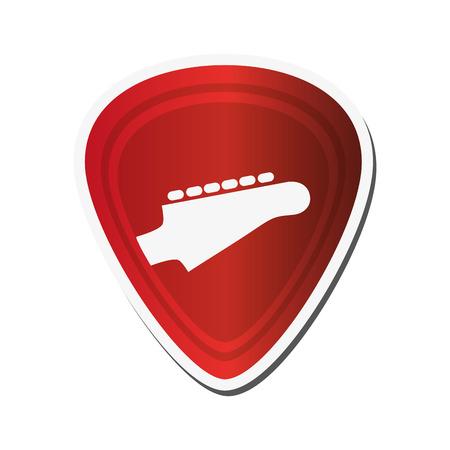 guitar pick: flat design Guitar pick icon vector illustration