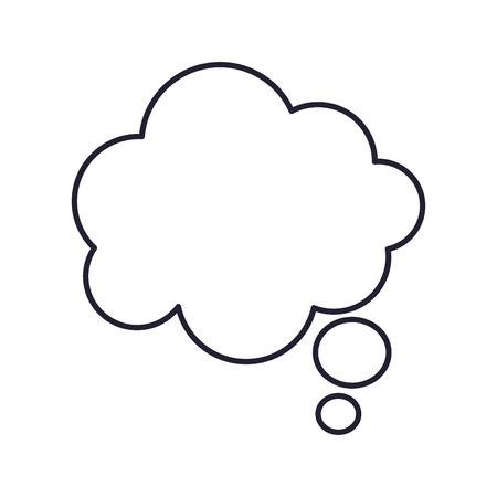 spech bubble: flat design thought bubble icon vector illustration Illustration
