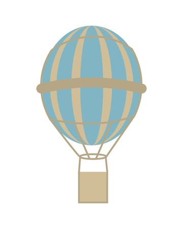 drift: flat design hot air balloon icon vector illustration
