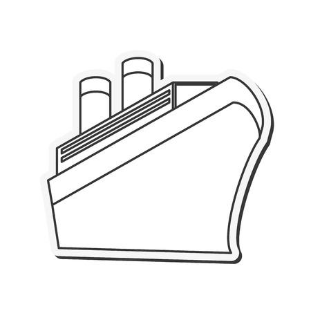 cruise ship icon: flat design Cruise Ship icon vector illustration Illustration