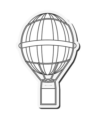 drifts: flat design hot air balloon icon vector illustration