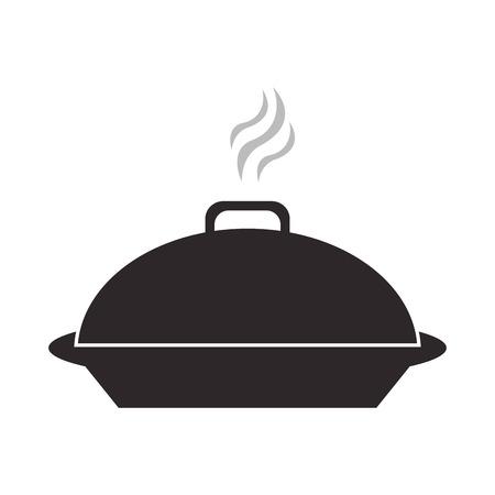 ellipse: diseño plano bandeja de comida elegante ilustración del vector del icono Vectores