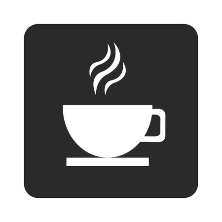 hot cup: flat design hot cup icon vector illustration