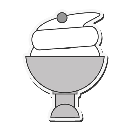 ice cream cup: flat design ice cream cup icon vector illustration