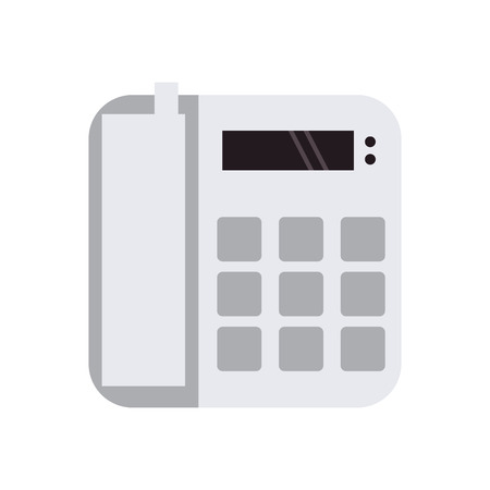 ip: flat design landline telephone icon vector illustration