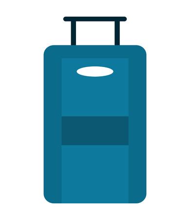 rolling bag: flat design travel suitcase icon vector illustration
