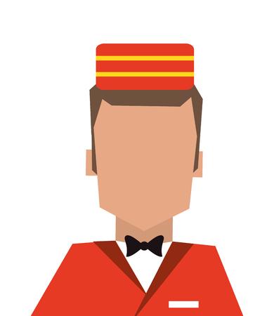 flaches Design Pagen oder Hotelpage Symbol Vektor-Illustration Vektorgrafik