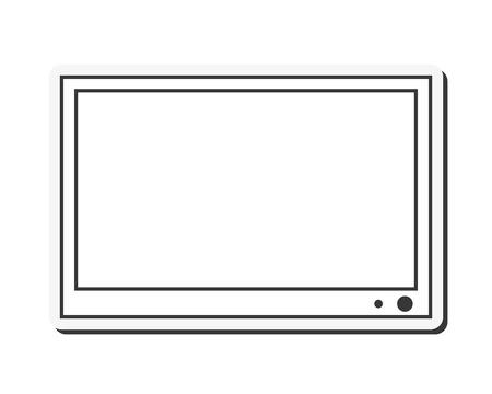flat screen: flat design flat screen tv icon vector illustration