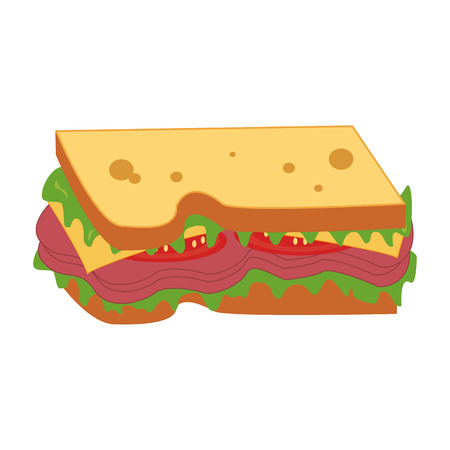 toasted: sandwich snack lunch fast food icon. Flat and Isolated illustration. Vector illustration