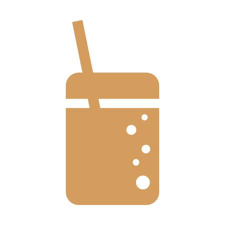 coke: coke soda drink beverage fast food icon. Flat and Isolated design. Vector illustration Illustration