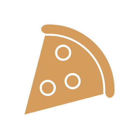 pizza snack lunch fast food icon. Flat and Isolated design. Vector illustration Illustration