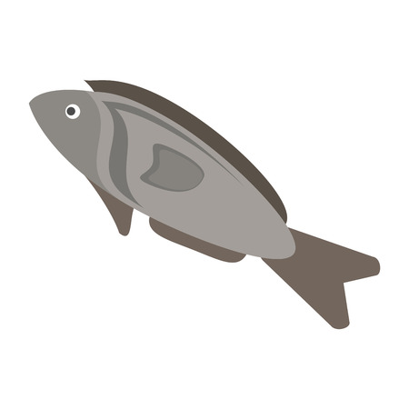 produce product: fish organic healthy natural food icon. Flat and Isolated illustration. Vector illustration