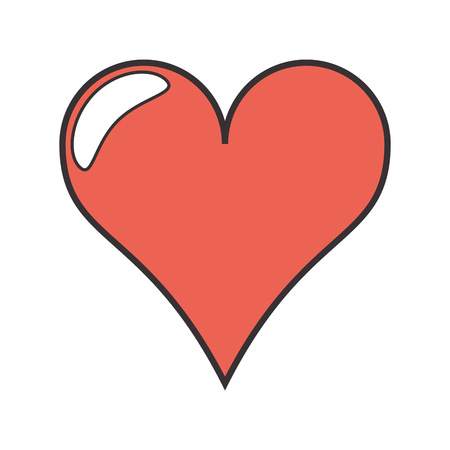 heart health: heart love romantic passion shape icon. Flat and Isolated design. Vector illustration