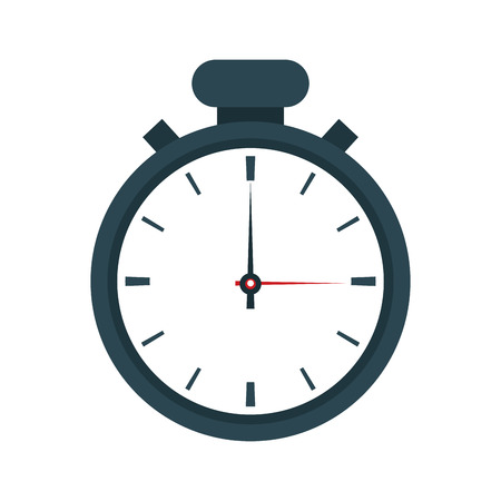 chronometer: chronometer time seconds minute icon. Flat and Isolated design. Vector illustration