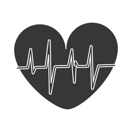 cardio: heart cardio healthy lifestyle gym fitness icon. Flat and Isolated design. Vector illustration