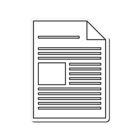 piece of paper: document piece paper information icon. Flat and Isolated design. Vector illustration Illustration