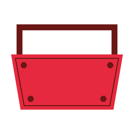 box construction: tool kit box construction repair icon. Flat and Isolated design. Vector illustration Illustration