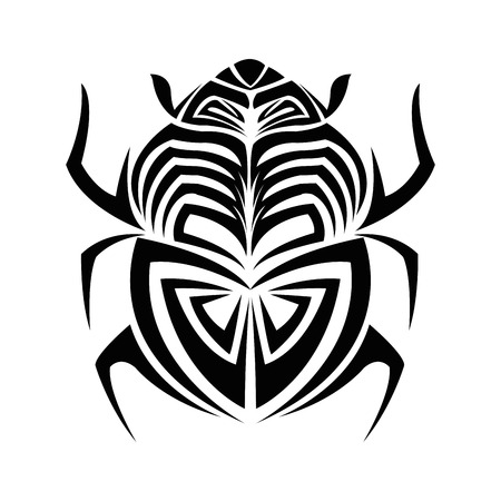 bug insect tattoo animal draw abstract icon. flat and isolated design. Vector illustration
