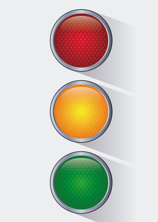 regulate: semaphore trafficlight sign warning road street icon. Colorful and isolated design. Vector illustration