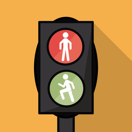 trafficlight: semaphore trafficlight sign warning road street icon. Colorful design. Vector illustration